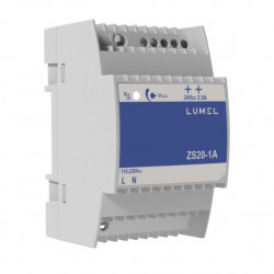 Sursa de alimentare LUMEL ZS20-1A, iesire 24V DC, 2.5A, 60W, montaj pe sina DIN