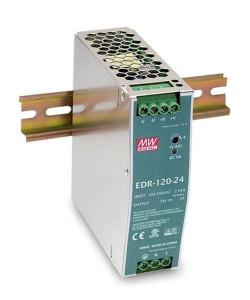 Sursa de alimentare MEAN WELL EDR-120-24, iesire 24V, 5A, 120W, montaj pe sina DIN