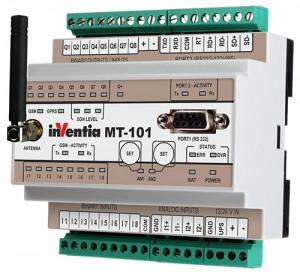 Modul I/O inteligent INVENTIA MT-101, 8DI-DO/2AI 4-20mA, GSM, RS485, PLC, logger, Modbus TCP/RTU