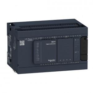 PLC SCHNEIDER ELECTRIC TM241C24R, 14DI/10DO, iesiri tranzistor si releu, port serial (RJ45), alimentare 100 - 240 VAC