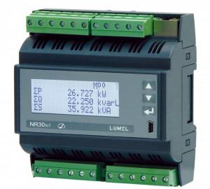 Analizor retea trifazata LUMEL NR30IoT, memorie interna 8GB, ETHERNET, MODBUS, MQTT, optional iesiri in releu, RS485, montaj pe sina