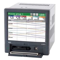 "Data logger LUMEL KD7, touch screen 5.7"", cu 6 intrari universale, 8 iesiri in releu, Ethernet, RS485"