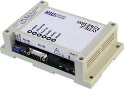 Modul I/O HW GROUP 600334 HWg-ER02a, 1DO releu 230V, RS-232/485, Ethernet