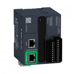 PLC SCHNEIDER ELECTRIC TM221ME16T, 8DI/8DO, iesiri tranzistor, Ethernet, port serial (RJ45), alimentare 24 VDC