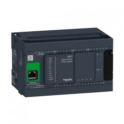 PLC SCHNEIDER ELECTRIC TM241CEC24T, 14DI/10DO, iesiri tranzistor, CANopen, Ethernet, port serial (RJ45), alimentare 24 VDC