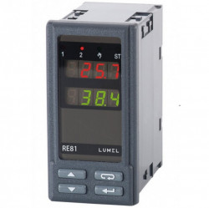 Regulator de temperatura LUMEL RE81, intrare PT100, 2 iesiri in releu, alimentare 230VAC