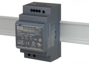 Sursa de alimentare MEAN WELL HDR-60-15, iesire 15V, 4A, 60W, montaj pe sina DIN