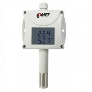 Traductor masurare temperatura si umiditate COMET T3311, protocol Modbus RTU, sonda inclusa, iesire RS232, afisaj local