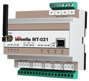 Modul I/O INVENTIA MT-021, 4DI/4DO/1AI PT100/1AI NTC 10k, GSM, logger, SMS