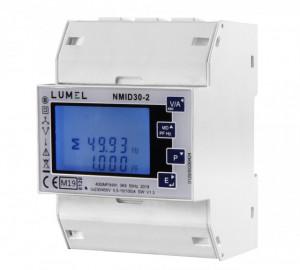 Analizor retea electrica LUMEL NMID30-2, masurare parametri retele monozate si trifazate, Certificare MID, Modbus, interfata RS485, intrare max 100A