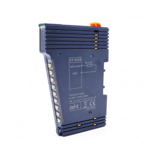 Modul de extensie I/O ODOT CT-4234, 4 ieșiri analogice în curent, 0-20mA/4-20mA, indicator led pentru fiecare intrare