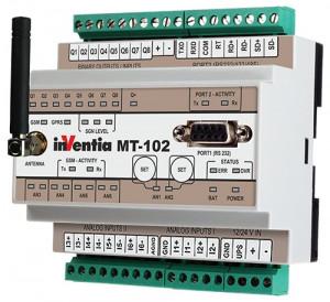 Modul I/O inteligent INVENTIA MT-102, 8DI-DO/6AI4-20mA, GSM, RS485, logger, PLC, ModbusTCP/RTU