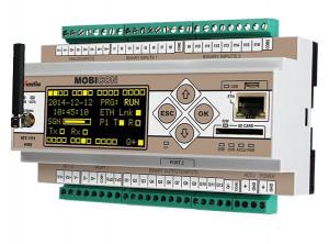 Modul I/O INVENTIA MT-151 HMI V2 SET, 16 intrari binare, 4AI 4-20mA / 2AI 0-10V, 12 iesiri binare, dual SIM 3G, Ethernet, RS232/485, Modbus TCP/RTU