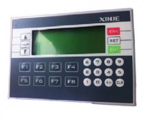 PLC cu HMI integrat XINJE XP3-18RT-C, cu 10 DI/8DO releu+tranzistor, 24Vcc