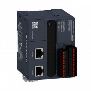 PLC SCHNEIDER ELECTRIC TM221M16RG, 8DI/8DO, iesiri releu, 2 porturi seriale (RJ45), block terminal detasabil, alimentare 24 VDC