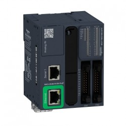 PLC SCHNEIDER ELECTRIC TM221ME32TK, 16DI/16DO, iesiri tranzistor, Ethernet, port serial (RJ45), alimentare 24 VDC
