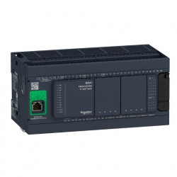 PLC SCHNEIDER ELECTRIC TM241CE40R, 24DI/16DO, iesiri tranzistor si releu, Ethernet, port serial (RJ45), alimentare 100 - 240 VAC