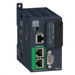 PLC SCHNEIDER ELECTRIC TM251MESC, server WEB, port CANopen, Ethernet, port serial (RJ45), alimentare 24 VDC