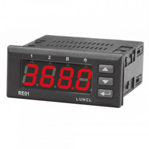 Regulator de temperatura LUMEL RE01, intrare sonda Pt100, iesire tip ON-OFF si alarmare, PID control
