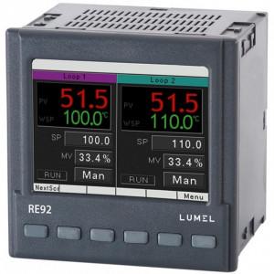 Regulator de temperatura LUMEL RE82, MODBUS RTU, 2 intrari universale de temperatura, 3 intrari binare, 6 iesiri in releu, RS485, alimentare 85-253 VAC/VDC