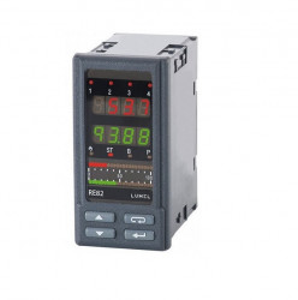 Regulator de temperatura LUMEL RE82, MODBUS RTU, intrare universala de temperatura, 1 intrare binara, 4 iesiri in releu, RS485, alimentare 85-253 VAC/VDC