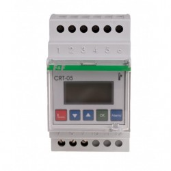 Regulator temperatura digital F&F CRT-05, iesire in releu/SPDT, intrare PT 100, montare pe sina DIN