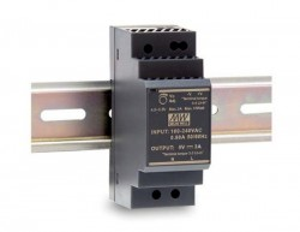 Sursa de alimentare MEAN WELL HDR-30-15, iesire 15V, 2A, 30W, montaj pe sina DIN