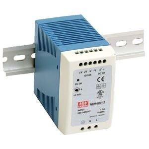 Sursa de alimentare MEAN WELL MDR-100-12, iesire 12V, 7.5A, 90W, montaj pe sina DIN
