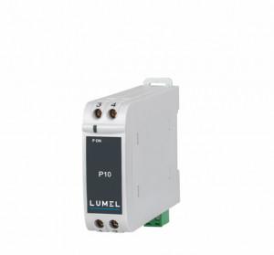 Traductor masurare curent continuu LUMEL P10, intrare 0-60VDC, ieșire analogice 4-20mA