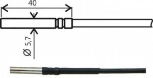 Termorezistenta masurare temperatura COMET SYSTEMS SN104E, lungime cablu 1m si sonda de 40mm, diametru 5,7mm