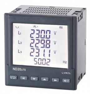 Analizor retea electrica LUMEL ND20 LITE, masurare parametri retele monofazate si trifazate, iesire in releu si in puls