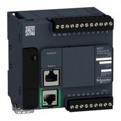 PLC SCHNEIDER ELECTRIC TM221CE16T, 9DI/7DO, iesiri tranzistor, Ethernet, port serial (RJ45), alimentare 24 VDC