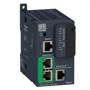 PLC SCHNEIDER ELECTRIC TM251MESE, server WEB, porturi Ethernet, port serial (RJ45), alimentare 24 VDC