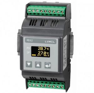 Regulator de temperatura LUMEL RE62, MODBUS RTU, 1 intrare universala de temperatura, 3 iesiri in releu, RS485, alimentare 24 V sau 230 VAC/VDC