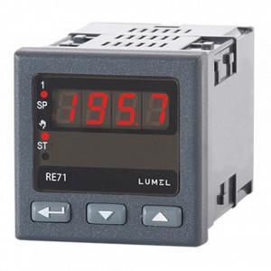 Regulator de temperatură LUMEL RE71, intrare sondă PT100, 1 ieșire în releu, alimentare 230 VAC