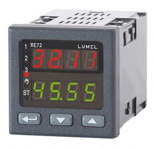 Regulator de temperatura LUMEL RE72, intrare sonda de temperatura, 3 iesiri in releu, alimentare 85-253 VAC/VDC