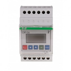 Regulator temperatura digital F&F CRT-06, iesiri in releu, montare pe sina DIN