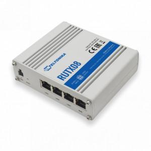 Router ETHERNET industrial TELTONIKA RUTX08, MODBUS, 4 porturi ETHERNET, intrare si iesire digitala, carcasa metalica