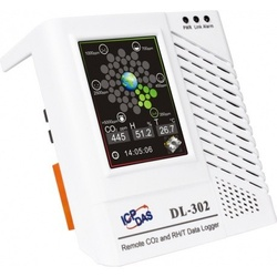 Data logger ICPDAS DL-302, temperatura, CO2 si umiditate, Ethernet, touch screen
