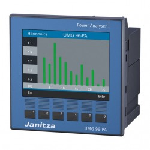 Analizor retea electrica JANITZA UMG 96-PA, certificare MID si UL, masurare parametri retele trifazate