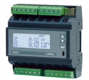 Analizor retea trifazata LUMEL NR30, memorie interna 8GB, măsurători directe (până la 63A), MODBUS, ETHERNET, optional iesiri in releu, RS485, montaj pe sina