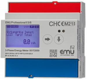 Contor masurare energie activa EMU Professional II P21A030MO, datalogger, curbe de consum, certificare MID și ISO 50001, intrare 1A/5A pentru transformator de curent, rețea trifazată, MODBUS RTU/ASCII, RS485