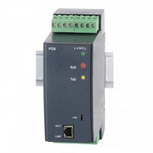 Convertor LUMEL PD8, RS-485 - ethernet