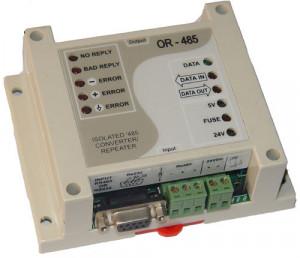 Convertor/Repetor izolat TEMCO CONTROLS OR-485, RS485, RS232, alimentare externa, functii de diagnostic