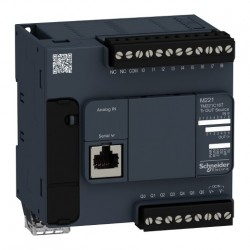 PLC SCHNEIDER ELECTRIC TM221C16T, 9DI/7DO, iesiri tranzistor, port serial (RJ45), alimentare 24 VDC
