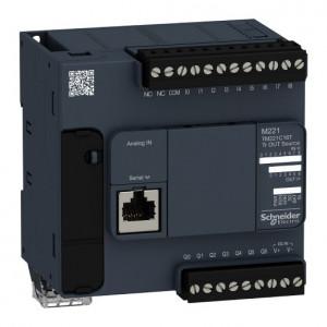 PLC SCHNEIDER ELECTRIC TM221C16T, 9DI/7DO, iesiri tranzistor, port serial (RJ45), alimentare 24 VDC