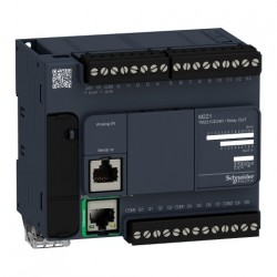 PLC SCHNEIDER ELECTRIC TM221CE24R, 14DI/10DO, iesiri releu, Ethernet, port serial (RJ45), alimentare 100 - 240 VAC