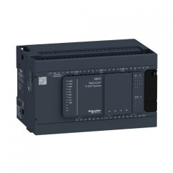 PLC SCHNEIDER ELECTRIC TM241C24T, 14DI/10DO, iesiri tranzistor, port serial (RJ45), alimentare 24 VDC