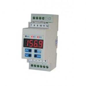 Regulator de temperatura SIMEX SRT-L35, intrare PT100 (500, 1000), iesiri in releu, montare pe sina DIN