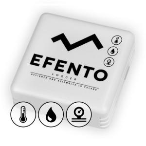 Senzor wireless temperatură, umiditate și presiune atmosferică, EFENTO BLE-THP, BLUETOOTH, data logger memorie 60000 de înregistrări, alimentat cu baterii